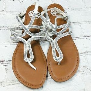 Fergalicious Fergie White Leather Diamond Shoe 9.5